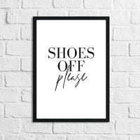 Shoes Off Please Simple Home Wall Decor Print