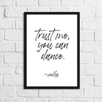 Trust Me You Can Dance Vodka Alcohol Kitchen Wall Decor Print