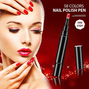 (58 Colors) One Step Nail Polish Pen