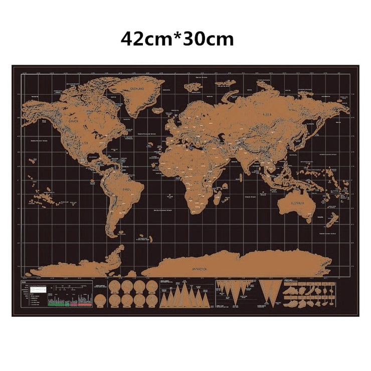 Deluxe Edition World Scratch Map