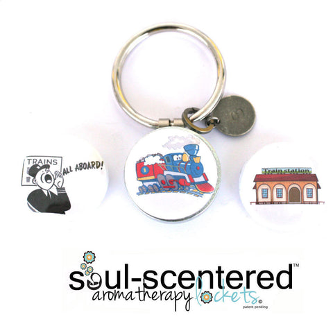 Aromatherapy Keychain | Train Lover GIft