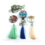 Tassel Aromatherapy Locket | Diffuser Necklace - Flower Power