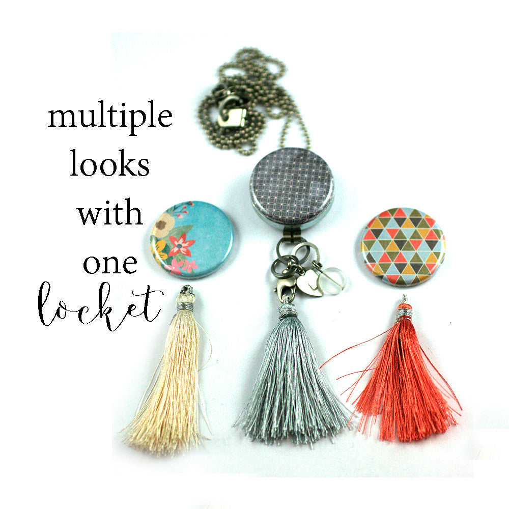 Tassel Aromatherapy Locket | Diffuser Necklace - Bold Patterns