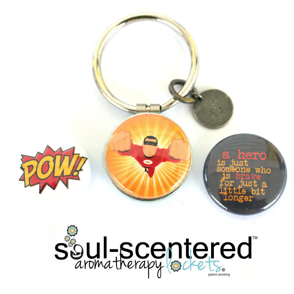 hero diffuser keychain for boys