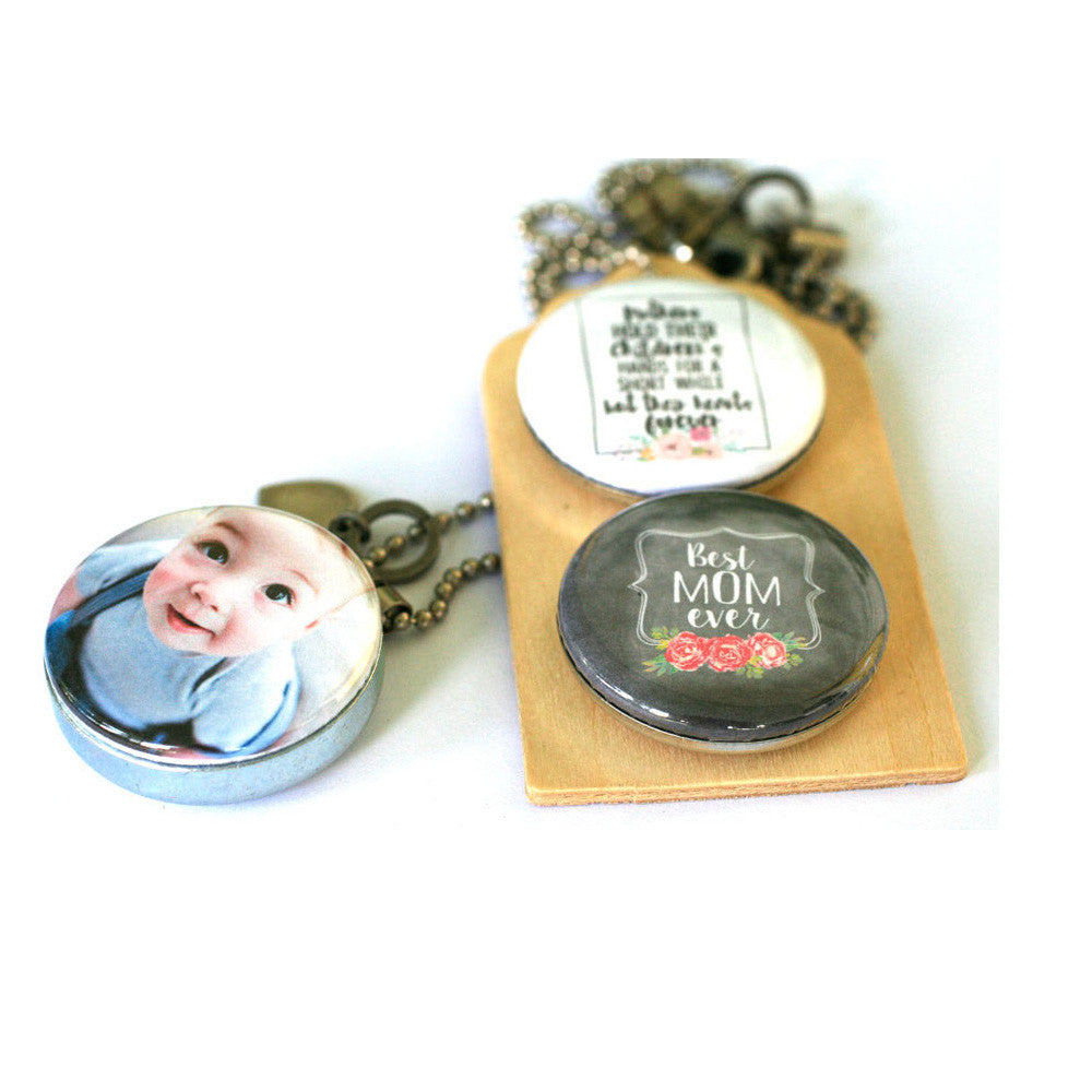 Mother's Day Diffuser Necklace | Aromatherapy Locket | Custom with Children's Photo