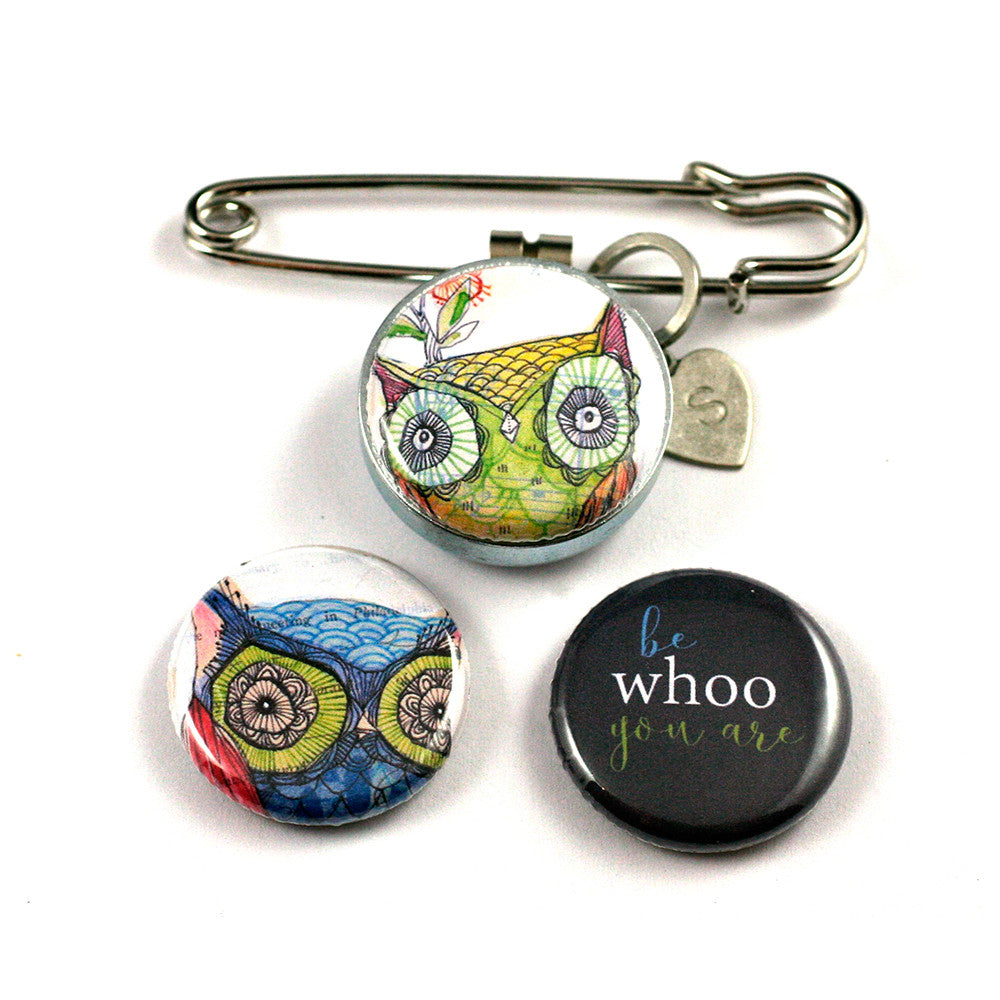 Aromatherapy Stickpin | be WHOO you are