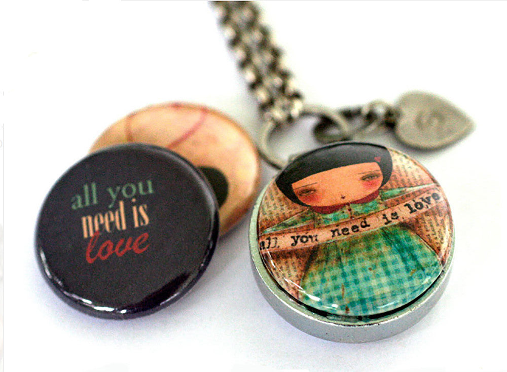 Magnetic Diffuser Necklace | All You Need is Love