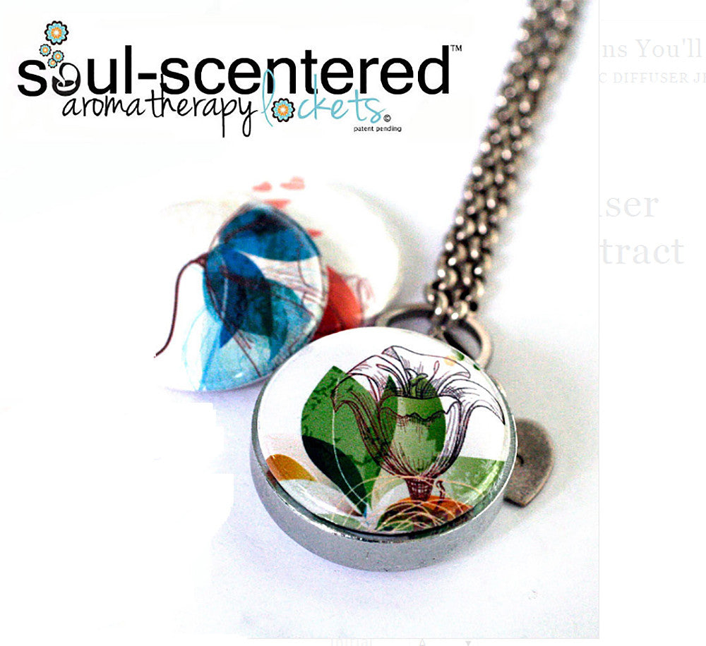 Magnetic Diffuser Necklace | Abstract Blossoms