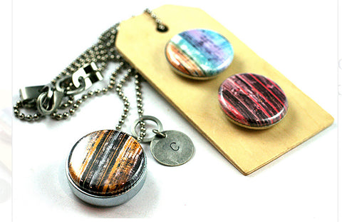 Distressed Wood | Diffuser Necklace