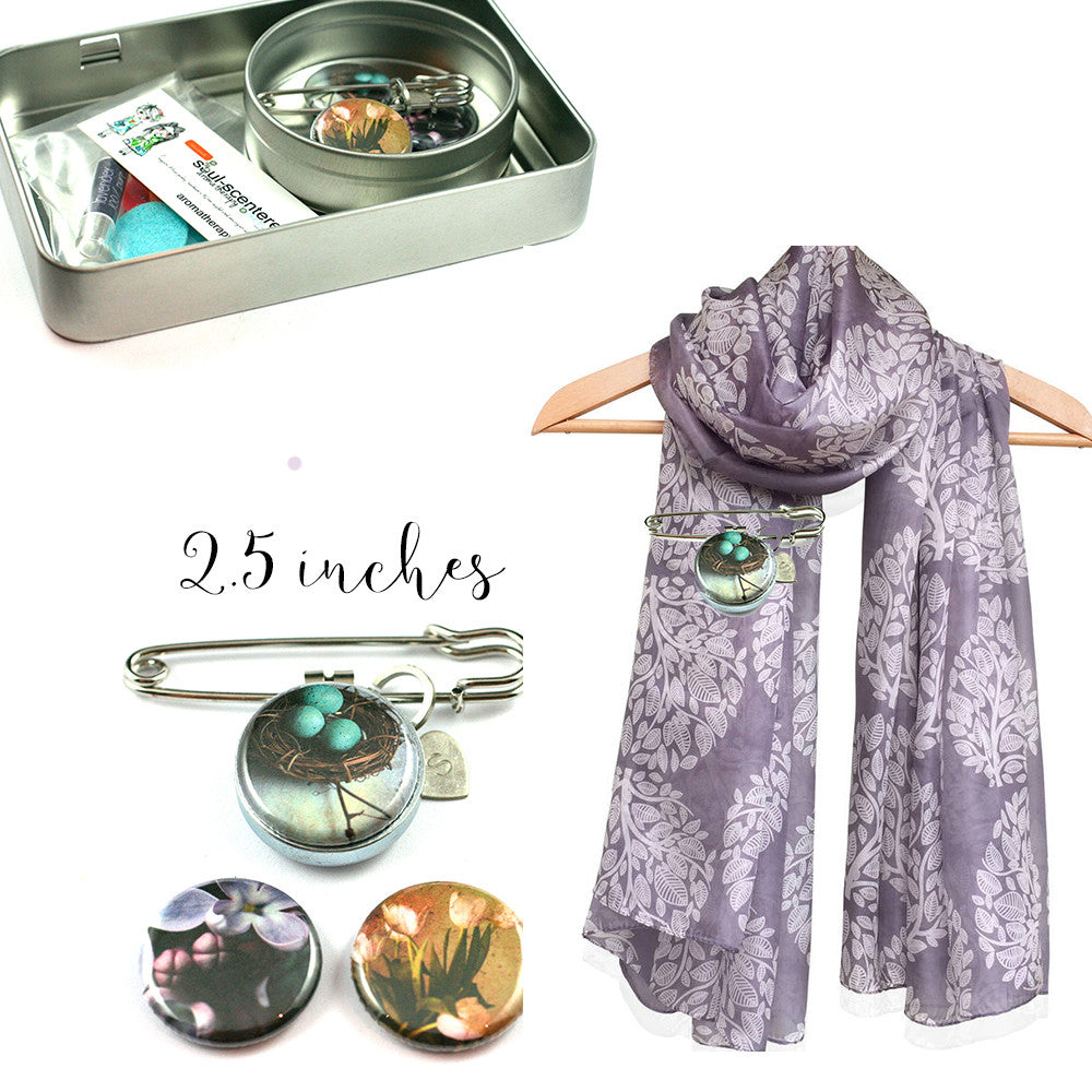 Aromatherapy Diffuser Brooch | Nature
