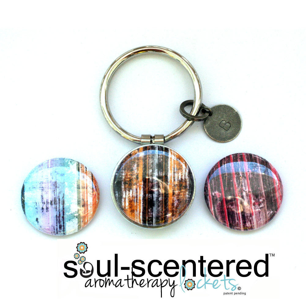Aromatherapy Keychain | DISTRESSED Painted Wood