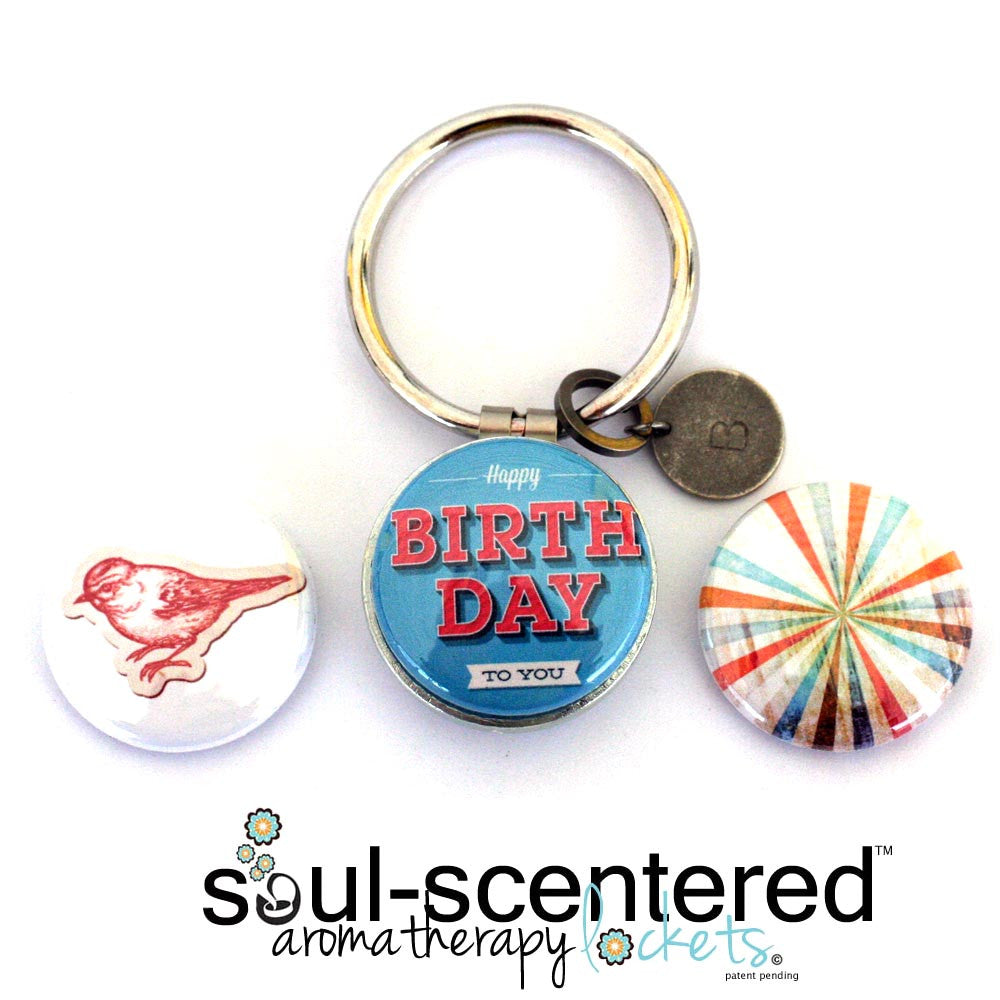 Aromatherapy Keychain | Happy BIRTHDAY