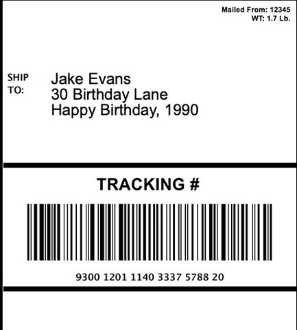 Design Your Own Edible 4x6 Shipping Label for Amazon & Package Cakes