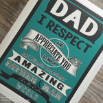 Father's Appreciation Edible Image - Never Forgotten Designs