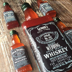 Edible Sugar Hard Candy Jack Whiskey Half Bottle Cake Toppers