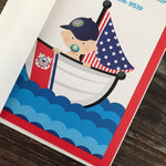 USCG Coastie Baby Shower Cartoon Invitations