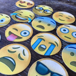 Precut Edible Emoji Styled Cupcake Toppers - Never Forgotten Designs