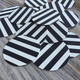Black & White Striped Edible Images