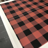Edible Lumber Jack Red & Black Plaid Cake Wraps© Images by NFD