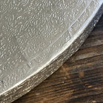 Round Silver Foil Wrapped Thick Cake Board