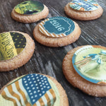 Vintage 4th of July Independence Day Edible Images Cupcake Cookie Toppers