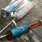 Edible Sugar Beer Bottle Hard Candy Lollipop Sucker Favors - Never Forgotten Designs