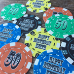 Edible Personalized Poker Chips for Gambling Casino Party