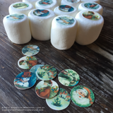 "Custom Design Your Own Edible 0.75"" Round Image Toppers for Marshmallows - 2 Dozen"