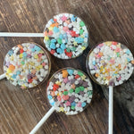 Unicorn Rainbow Nerds, Confetti & Glitter Sprinkle Lollipops
