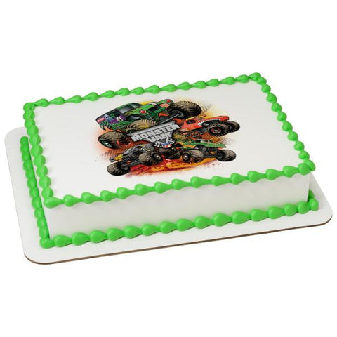 Officially Licensed Monster Jam Edible Cake Image Toppers