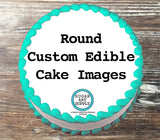 "Custom Design Your Own Edible 7.5"" Image Toppers for Round Cakes"