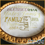 "Custom Design Your Own Edible 7.5"" Image Toppers for Pies & Cheesecakes"