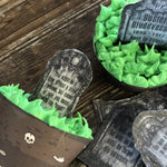 Edible Tomb Stone Cupcake Toppers