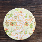Autumn Themed Edible Image Cookie Toppers