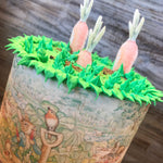 Water Color Peter Rabbit Carrot Cake & Cupcake Toppers