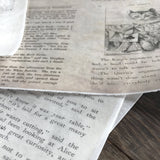Edible Alice in Wonderland Vintage Printed Book Pages