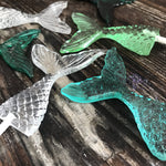 Mermaid Tail Candy Sucker Lollipops Cake & Cupcake Toppers