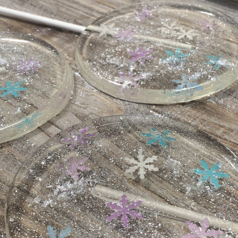 "Large Let It Snow Lollipops 3.75"" Round"