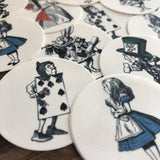 Alice in Wonderland Cards Cupcake Cookie Toppers