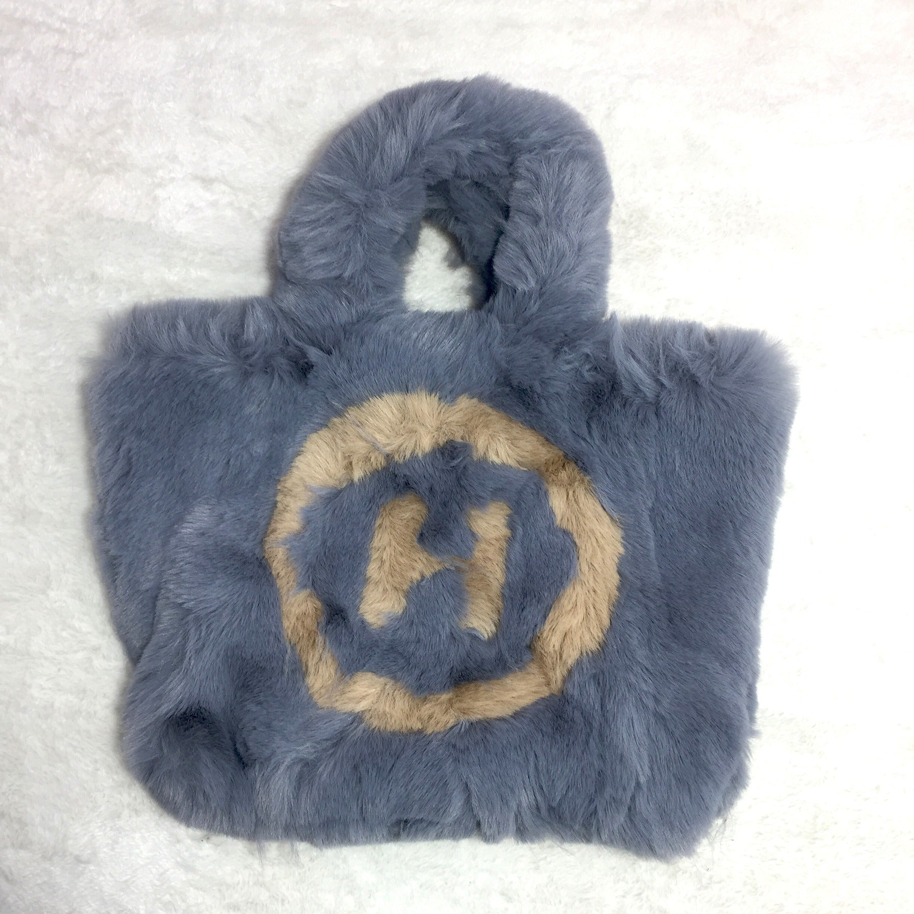 Ficuster Faux Fur Grey Sling Bag