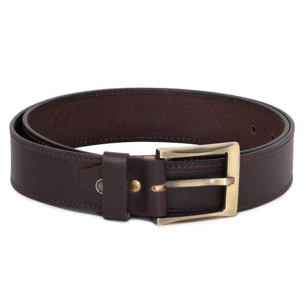 Ficuster Men Tan Leather Belt
