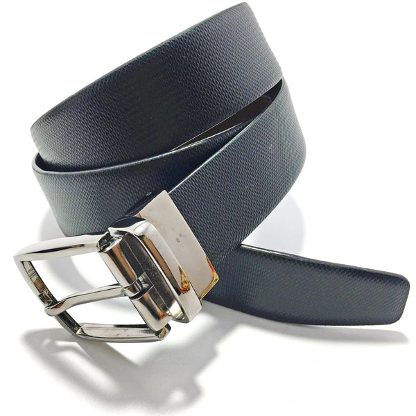 Ficuster Men Reversible Black Brown Leather Belt