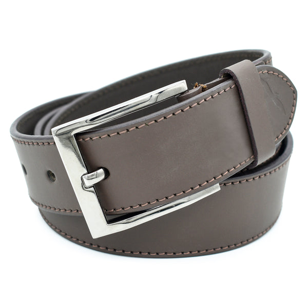 Ficuster Men Matte Finish Tan Leather Belt