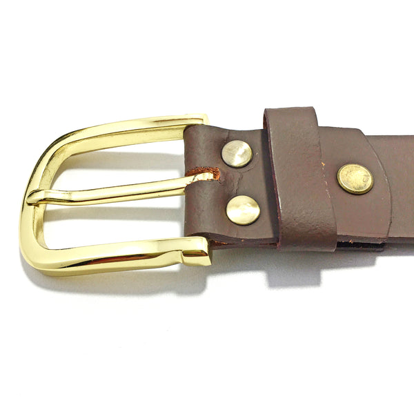 Ficuster Men Tan Matte Finish Leather Belt