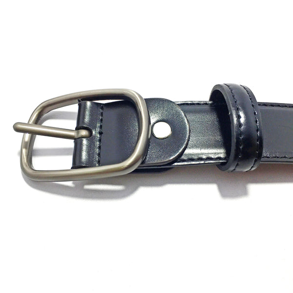 Ficuster Men Black Tan Glossy Finish PU Belt