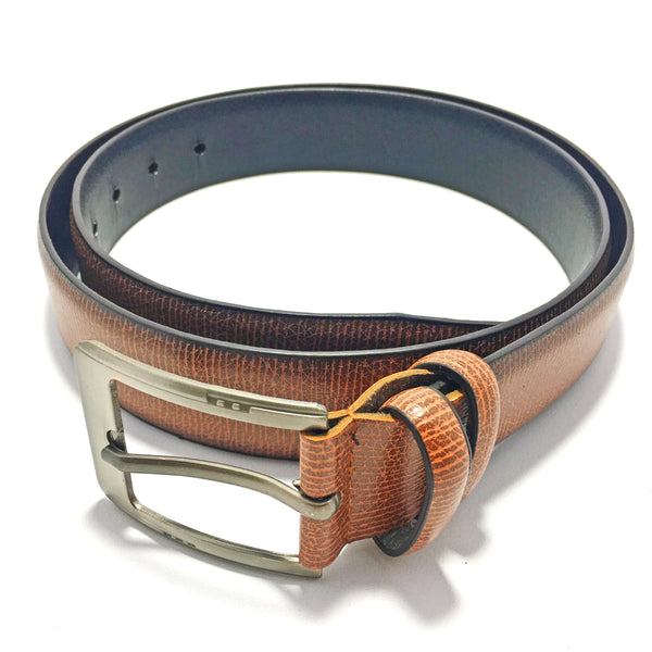 Ficuster Men Brown Glossy Finish PU Belt