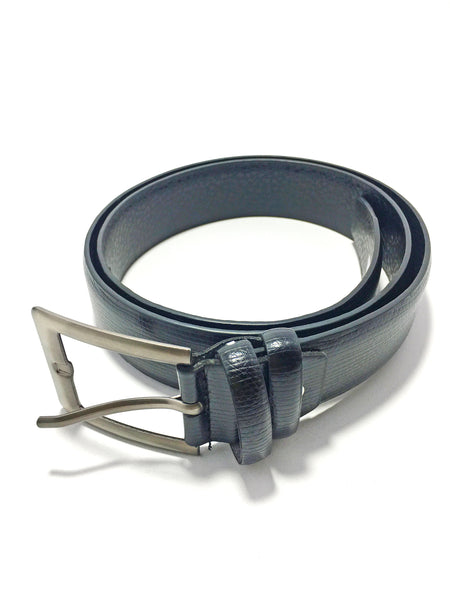 Ficuster Men Black Glossy Finish PU Belt