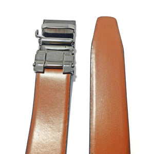 Ficuster Men Black Brown Glossy Finish Genuine Leather Belt
