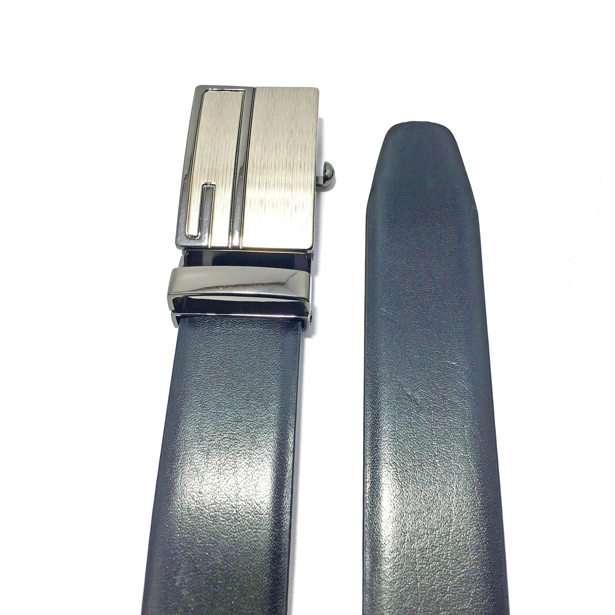 Ficuster Men Reversible Tan Black Italian Leather Belt