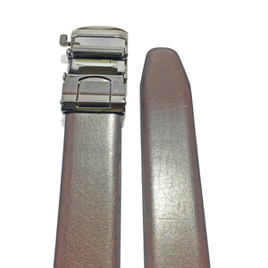 Ficuster Men Tan Black Reversible Italian Leather Belt